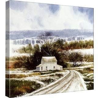 "PTM Images 9-97799  PTM Canvas Collection 12"" x 12"" - ""Rural Winter Road"" Giclee Rural Art Print on Canvas"