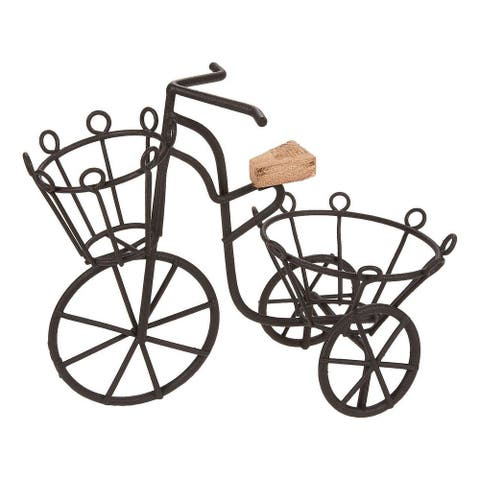 Miniature Plant Iron Bicycle Stand Holder for Garden Decor, Indoor, Outdoor