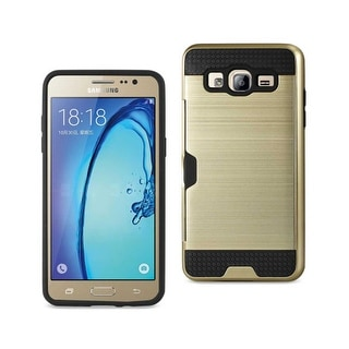 REIKO SAMSUNG GALAXY ON5/ J5 SLIM ARMOR HYBRID CASE WITH CARD HOLDER IN GOLD