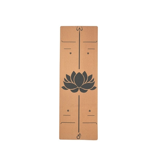 Moda Health and Fitness Extra Wide Lotus Pattan Cork Wood Yoga Mat. Opens flyout.