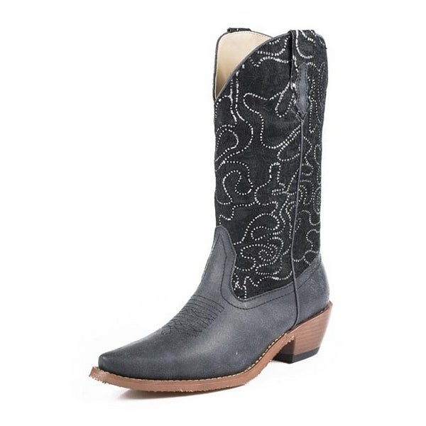 Roper Western Boots Women Crystal Lace Bling Black