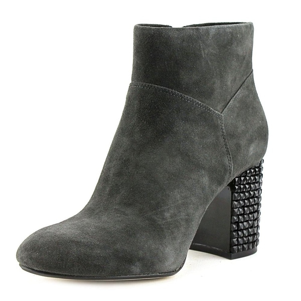 Michael Michael Kors Arabella Ankle Boot Women Round Toe Suede Gray Ankle Boot