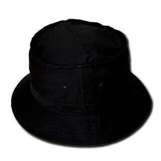 Black Fisherman's Bucket Hat L/XL - l to xl
