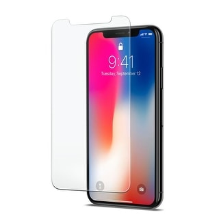 Screen Protector for iPhone X & iPhone Xs Invincible Crack Proof Tempered Glass - White