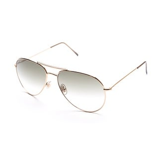 Gucci Men's Women's Unisex Aviator Sunglasses 1287/S Gold - Small