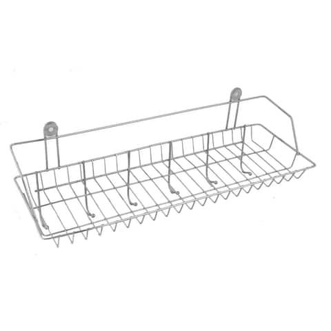 Household Kitchen Kitchenware Bathroom Towels Shelf Storage Rack Silver Tone
