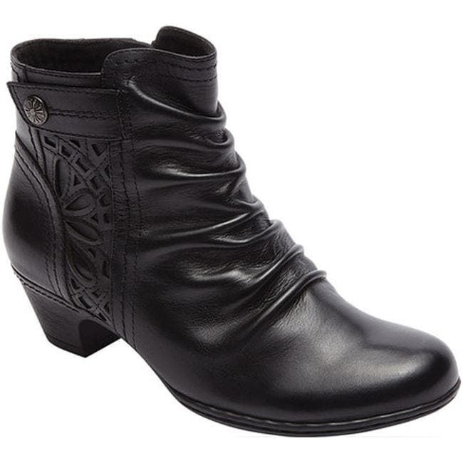 Rockport Women's Cobb Hill Abilene Ankle Boot Black Leather