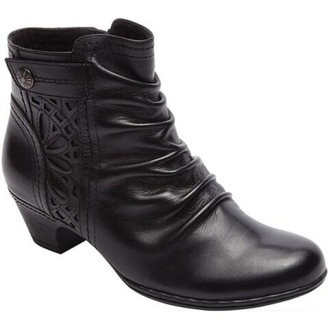 Rockport Women's Cobb Hill Abilene Ankle Boot Black Leather