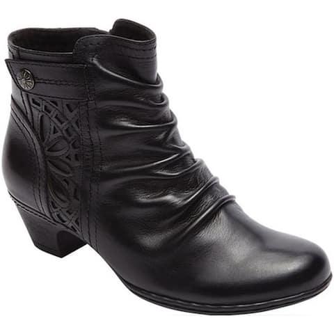 61ecfb155ec9 Rockport Women s Cobb Hill Abilene Ankle Boot Black Leather