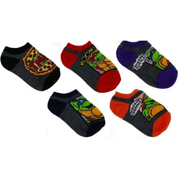 Teenage Mutant Ninja Turtles No-Show Socks, 5 Pack, 5-6.5