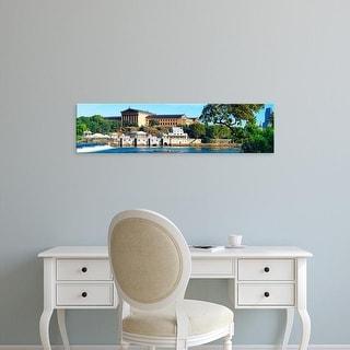 Easy Art Prints Panoramic Image 'Philadelphia Museum Of Art, Schuylkill River, Philadelphia, Pennsylvania' Canvas Art