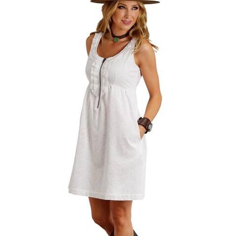 Stetson Western Dress Womens Eyelet Ruffled Tank