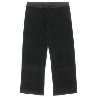 Juicy Couture Black Label Womens JC Starburst Velour Original Leg Pant - XL