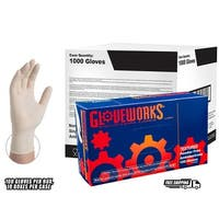 GLOVEWORKS Ivory Latex Industrial Powder Free Disposable Gloves (Case of 1000)