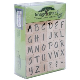 Image Tree Handle Rubber Stamp Set-Susy Ratto Brush Letter Alphabet/Upper