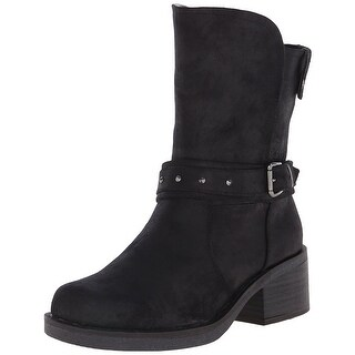 White Mountain Womens Gulliver Fabric Square Toe Ankle Fashion Boots