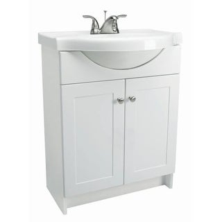 "Design House 541656 24"" Freestanding Vanity Cabinet with Marble Vanity Top"