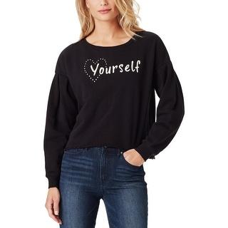 Jessica Simpson Womens Juniors Dasha Crop Sweater Studded Knit - S