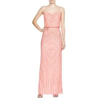 Aidan Mattox Womens Semi-Formal Dress Mesh Embellished
