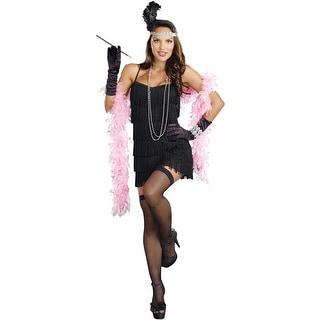 Dreamgirl Basic Flapper Adult Costume - Black
