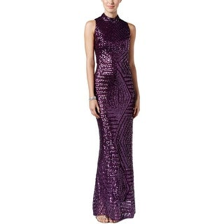 Vince Camuto Womens Evening Dress Sequined Cut-Out