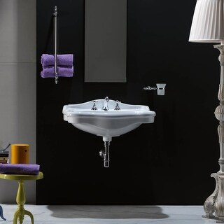 """WS Bath Collections Contea 72 - 0603101 Contea 28-3/10"""" Wall Mounted Bathroom Sink with Overflow"""
