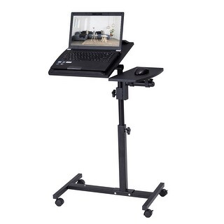 Costway Angle and Height Adjustable Laptop Desk Rolling Notebook Sofa Bed Table Stand