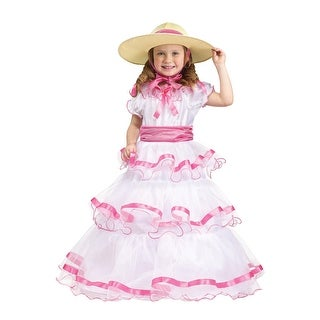 Fun World Sweet Southern Belle Toddler Costume - White/Pink