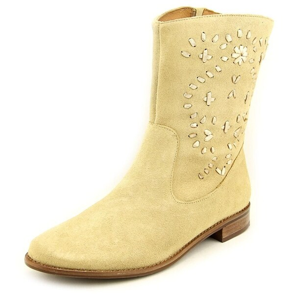 Jack Rogers Kaitlin Women Round Toe Suede Tan Mid Calf Boot