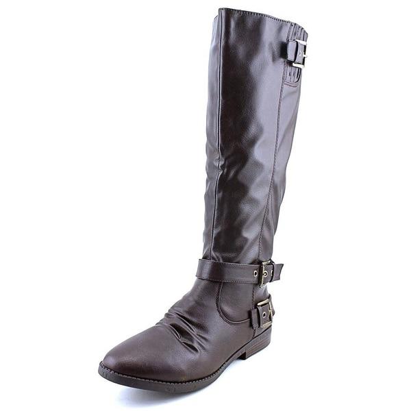 Rampage Womens Idola Almond Toe Knee High Fashion Boots