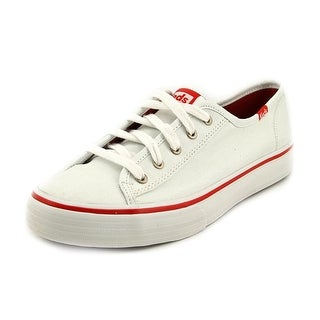 Keds Double Up Women Round Toe Canvas White Sneakers