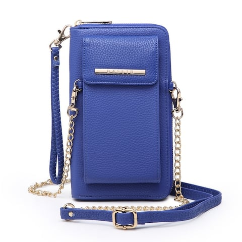 Dasein Multi Pockets Organizer Crossbody Bag with Detachable Chain Strap