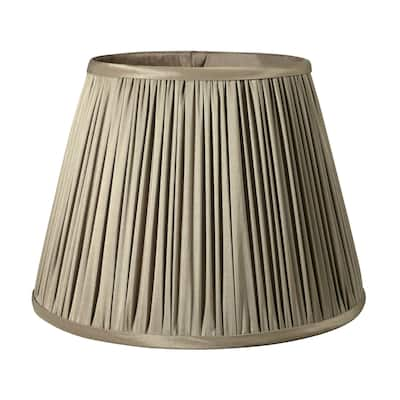 Cloth & Wire Slant Pencil Pleat Softback Lampshade with Washer Fitter, Ash