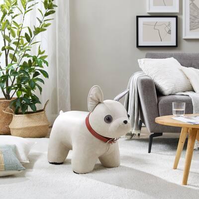Art-Leon Cute Dog Animal Ottoman