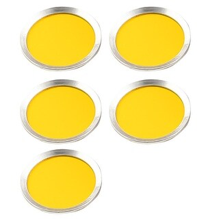 5 PCS Round Shape Phone Home Button Sticker Protector Yellow for iPad iPhone