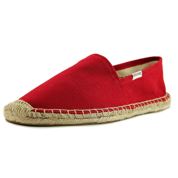 Soludos Original Espadrille Men Round Toe Canvas Red Espadrille
