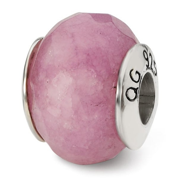 Sterling Silver Reflections Lavender Quartz Stone Bead (4mm Diameter Hole)