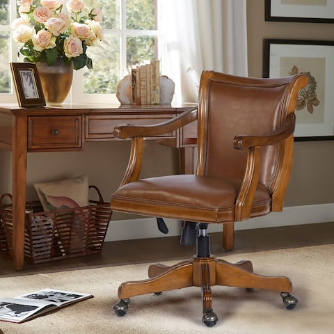 Furniture R Traditional Swivel Solid Wood Home Office Chair