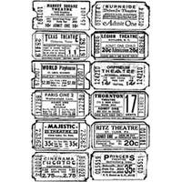 """Ticket - Tim Holtz Cling Rubber Stamp 2.5""""X3.5"""""""