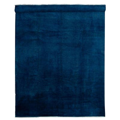 ECARPETGALLERY Hand-knotted Color transition Dark Blue Wool Rug - 9'8 x 13'9