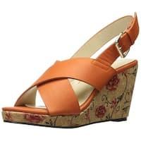 Annie Womens Hypo Fabric Open Toe Bridal Platform Sandals