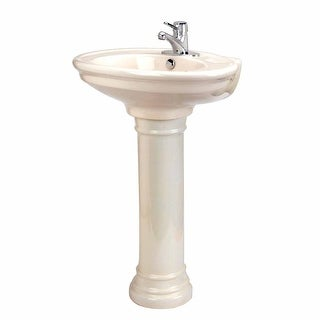 Bathroom Depth Pedestal Sink Bone China Doric 26 W x 33 1/2 H Renovator's Supply