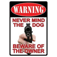 Tin Sign - Beware Of Owner