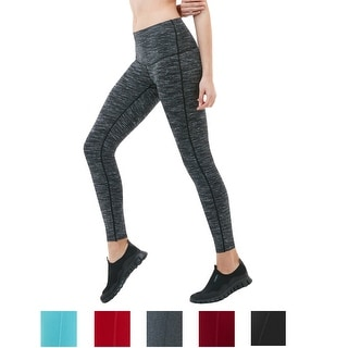 Tesla FYP42 Women's High-Waisted Ultra-Stretch Tummy Control Yoga Pants (Option: S)