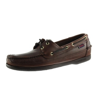 Sebago Mens Schooner Leather Distressed Boat Shoes