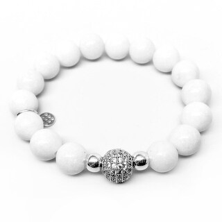 "White Jade Radiance 7"" Bracelet"