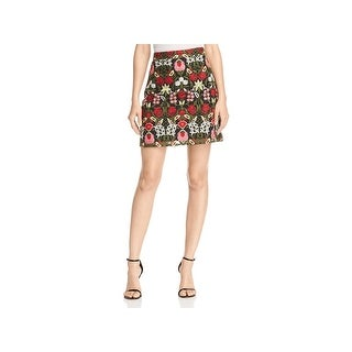 Lucy Paris Womens Marina Mini Skirt Embroidered A-Line