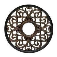 "Westinghouse 7776400 Round Parisian Scroll Ceiling Medallion, Antique Bronze, 16"""