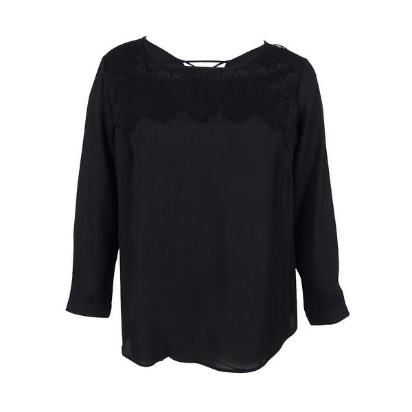 f2a981b0 Shop NY Collection Women's Plus Size Lace-Up Blouse - On Sale - Free ...