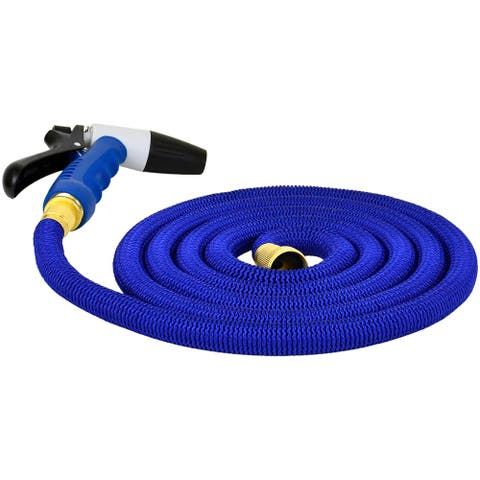 Hosecoil expandable 25 ft w/ nozzole and bag